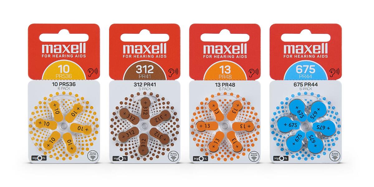 Maxell Hörgerätebatterien