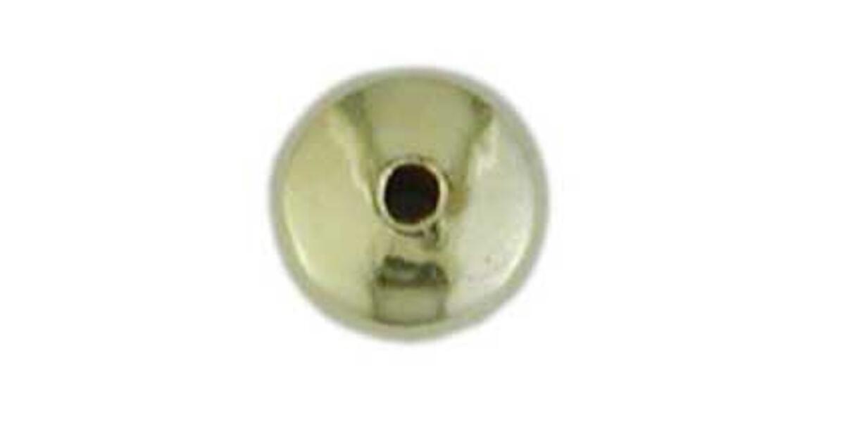 Hohllinsen, glatt, 2 Loch, poliert
