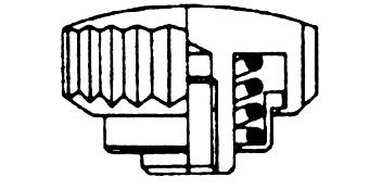 Kronen mit Federtubes - Kurzhals