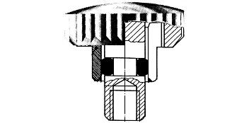 Kronen mit O-Ring am Rohr