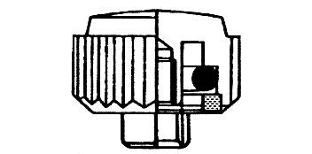 Kronen Titan/titanbesch. mit O-Ring - Kurzhals