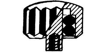 Taucherkronen mit Doppel-O-Ring