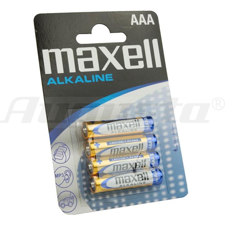 MAXELL Batterien MICRO AAA / LR 03 4er Blister