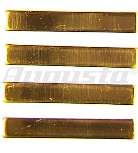 ZAHLENSATZ FÜR GROßUHREN Strichform, gelb 27 mm