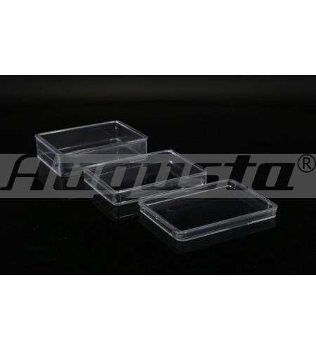 KLEINTEILDOSE, TRANSPARENT 60x44x8 mm ohne Einteilungen
