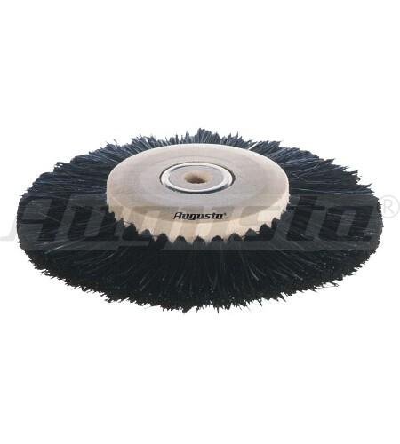 Circularbürste, schwarze Borsten 3-reihig, Ø 80 mm, schräg