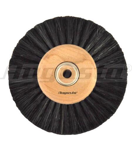 Circularbürste, schwarze Borsten 4-reihig, Ø 80 mm, gerade