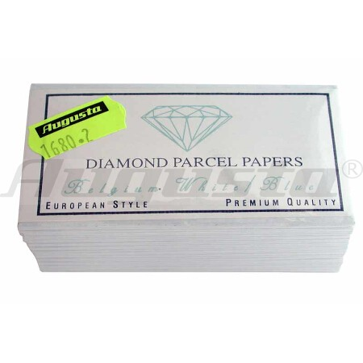 Diamantpapier blau/weiß, 80 X 45 mm 25 Stück