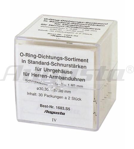 SORTIMENT O-RING-DICHTUNGEN für Herrenarmbanduhren