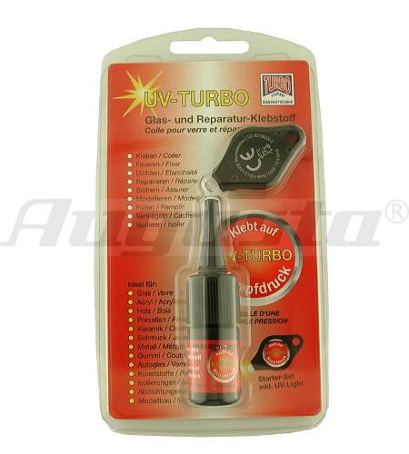 UV TURBO Kleber inkl. UV-Licht Starter-Kit, 3 g