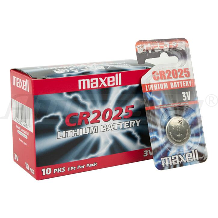 MAXELL Lithiumbatterien CR 2025 1er Blister