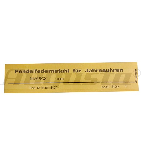 PENDELFEDERNSTAHL 0,08 MM
