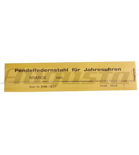 PENDELFEDERNSTAHL 0,10 MM