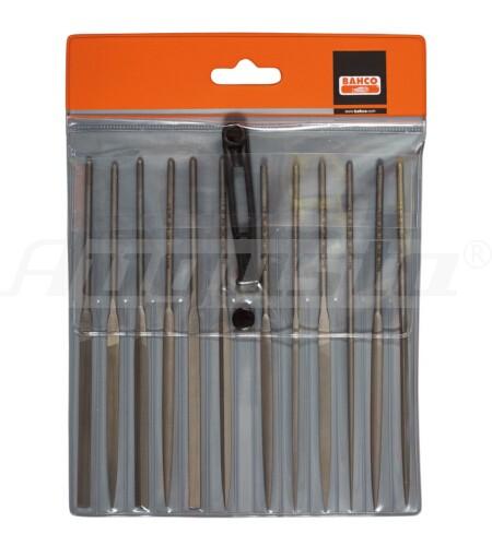BAHCO Nadelfeilensatz Hieb 2 12 Stück mit Heft, 160 mm