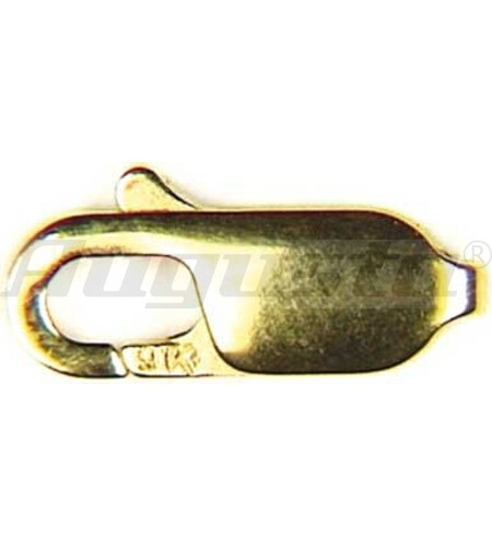 SCHMUCKKARABINER 12 MM GOLD 585 FLACH, GESTANZT