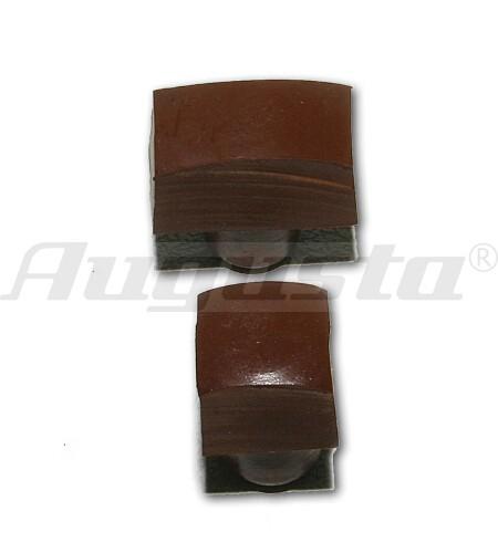 STERNKREUZ Gummidruckstücke rund, konvex 2 Stück