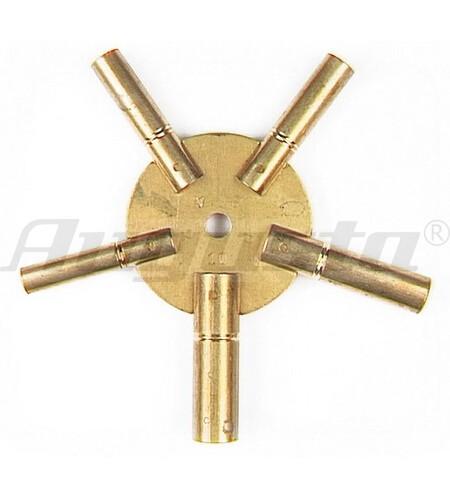 Sternschlüssel Messing mit 5 Rohren 4-6-8-10-12
