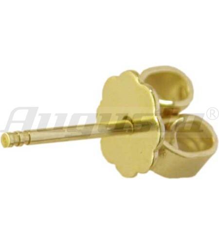 OHRSTECKERSTIFT GOLD 585 INKL. OHRMUTTER MIT VORGELÖTETER PLATTE
