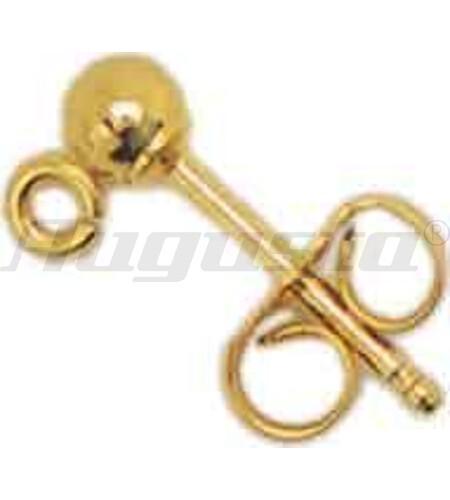 OHRSTECKER GOLD 585 MIT KUGEL 4 MM UND ÖSE