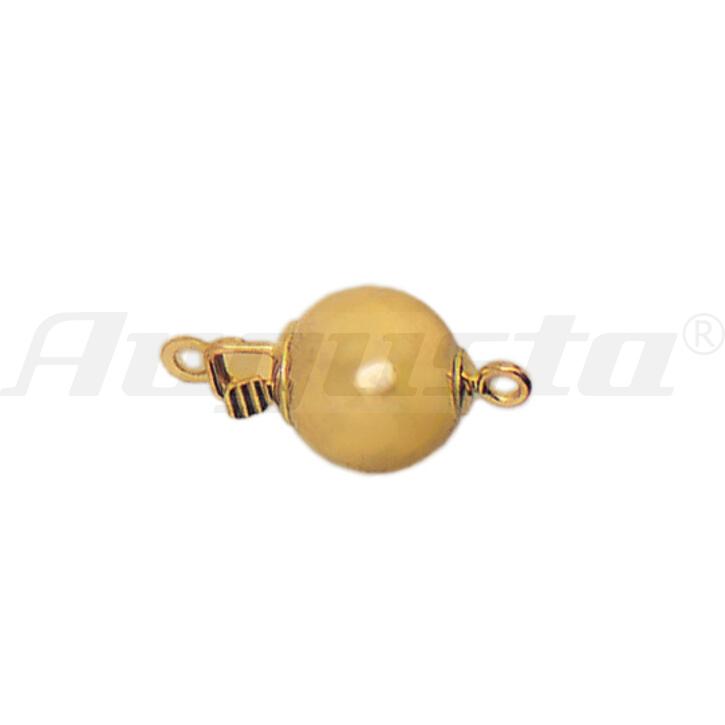 KUGELVERSCHLUSS 9 MM GOLD 375 POLIERT