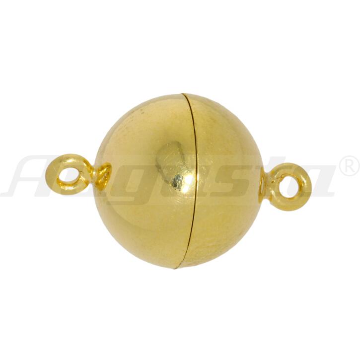 Magnetschließe Kugel silber vergoldet, poliert 10 mm