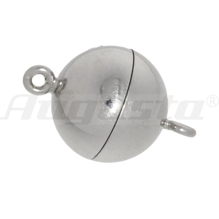 Magnetschließe Kugel, silber rhodiniert 12 mm