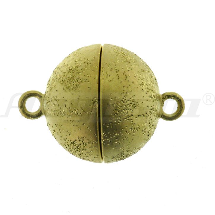 Magnetschließe Kugel, silber vergoldet, Milkyway matt Ø 12 mm