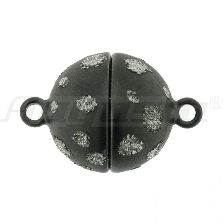 Magnetschließe Kugel, silber, Starsky matt Ø 10 mm
