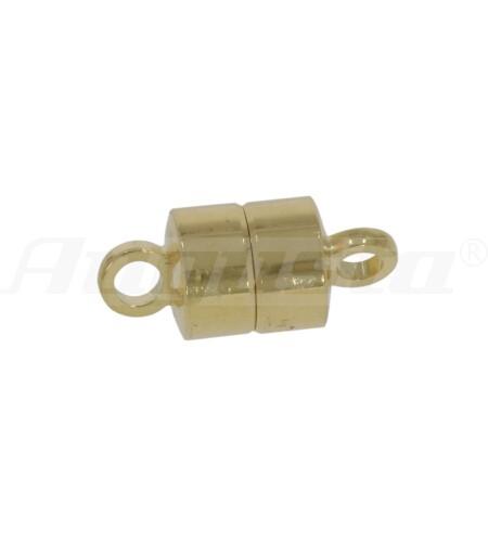 Magnetschließe Tonne silber vergoldet Ø 5 mm