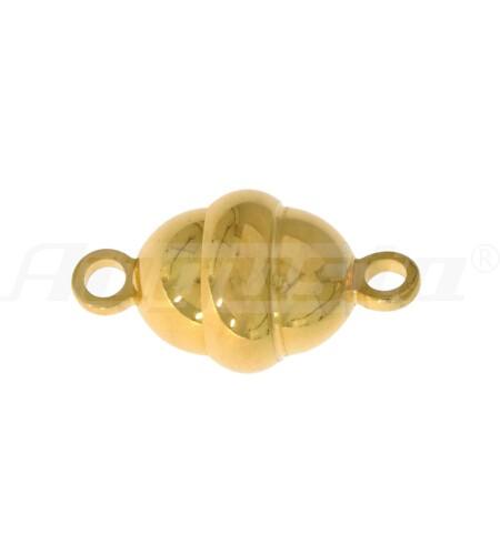 Magnetschließe oval, silber vergoldet Ø 8,8 mm