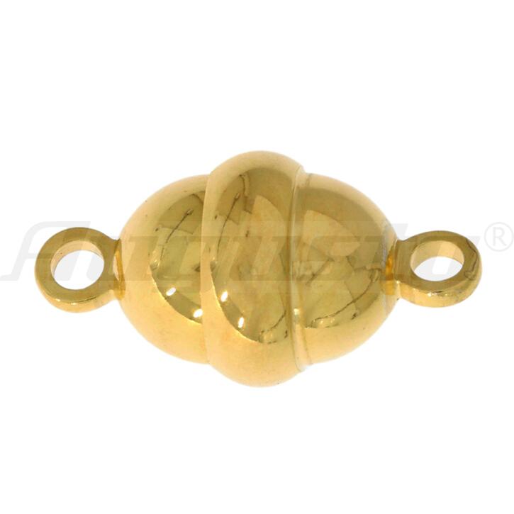 Magnetschließe oval, silber vergoldet Ø. 11/9 mm