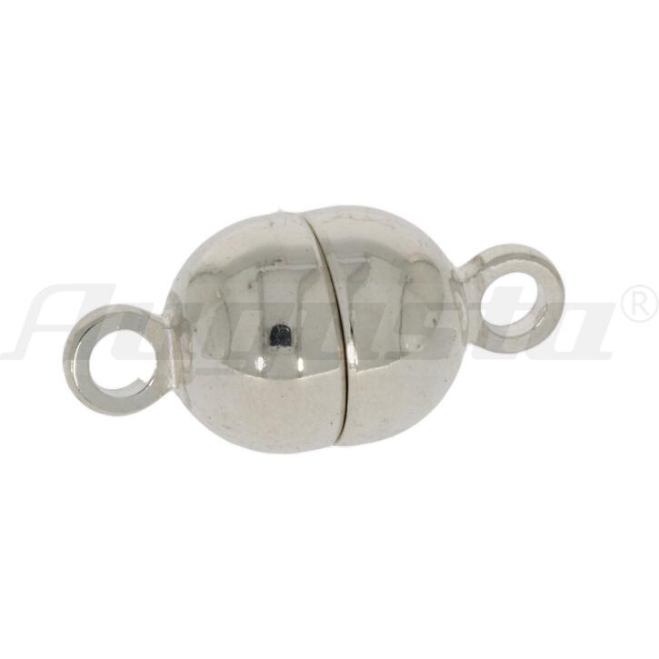 Magnetschließe Tonne silber, poliert, 5 mm