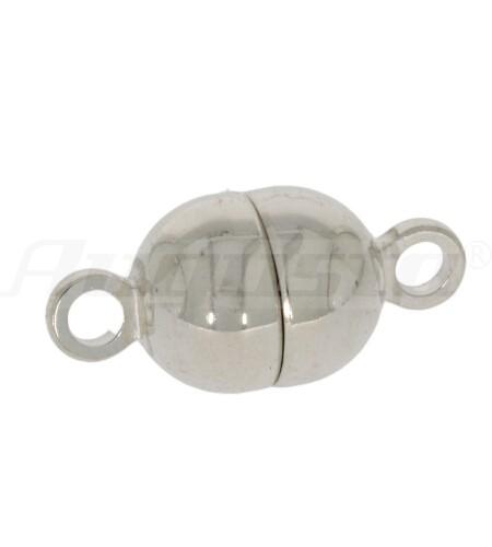 Magnetschließe Tonne silber, poliert, 7 mm