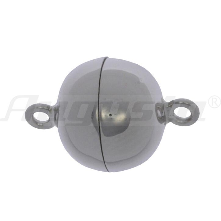 Magnetschließe Kugel, silber 14 mm