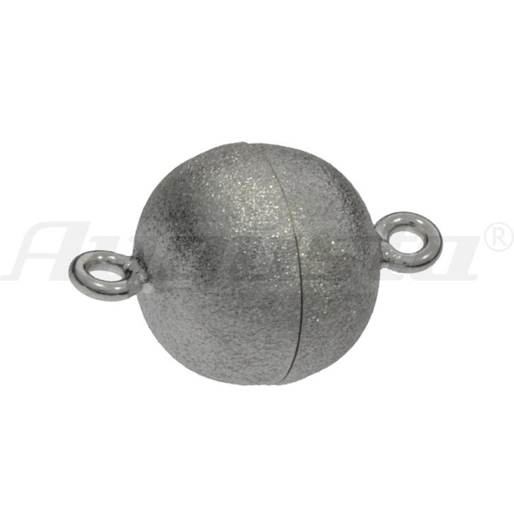 Magnetschließe Kugel, silber, matt 8 mm