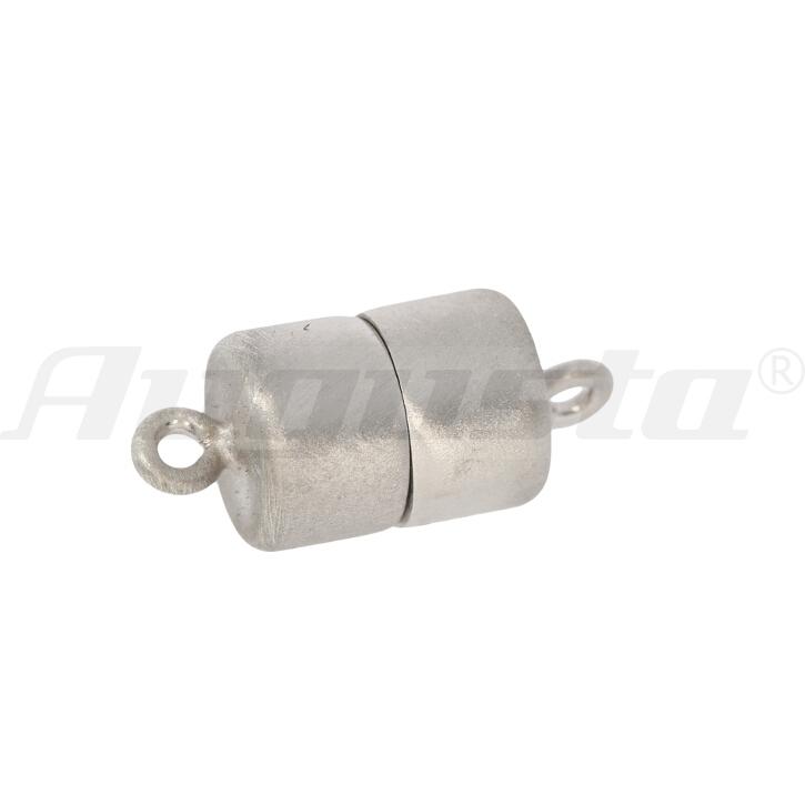 Magnetschließe Tonne, silber rhodiniert, matt 8 X 11 mm lose