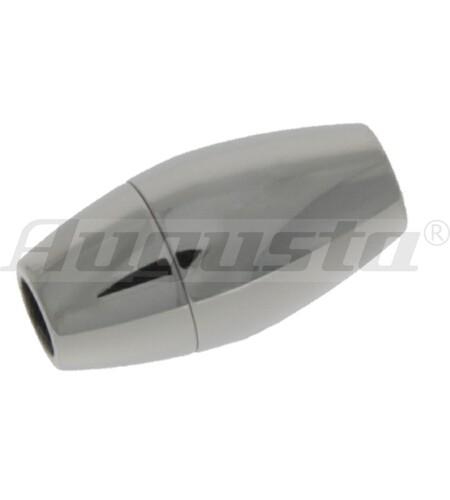 Magnetschließe oval, Edelstahl, poliert 9,5 X 19 mm