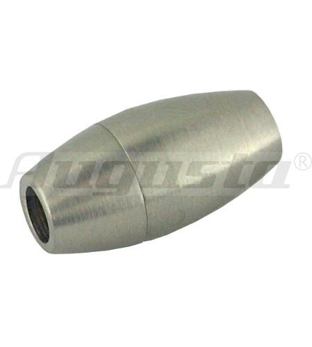 Magnetschließe oval, Edelstahl, matt 9,5 X 19 mm