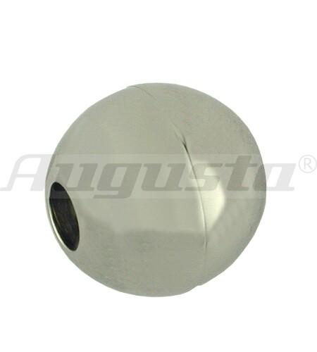 Magnetschließe Kugel Edelstahl, poliert, Ø 13 mm, Loch-Ø 4 mm