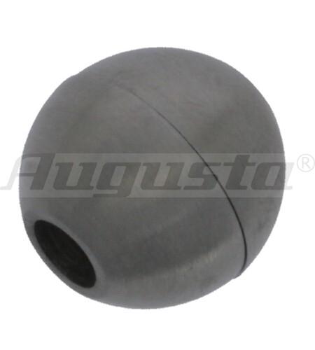 Magnetschließe Kugel 12,5 mm Edelstahl, mattiert, Ø 4 mm