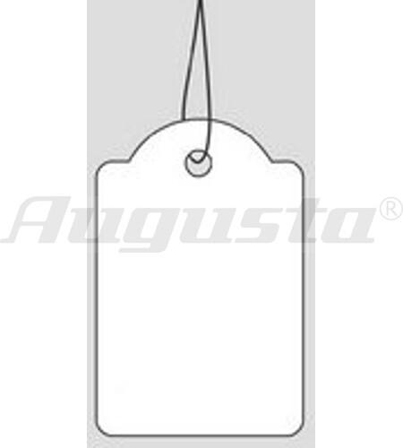 FADENETIKETTEN KARTON, WEIß 38 X 25 mm