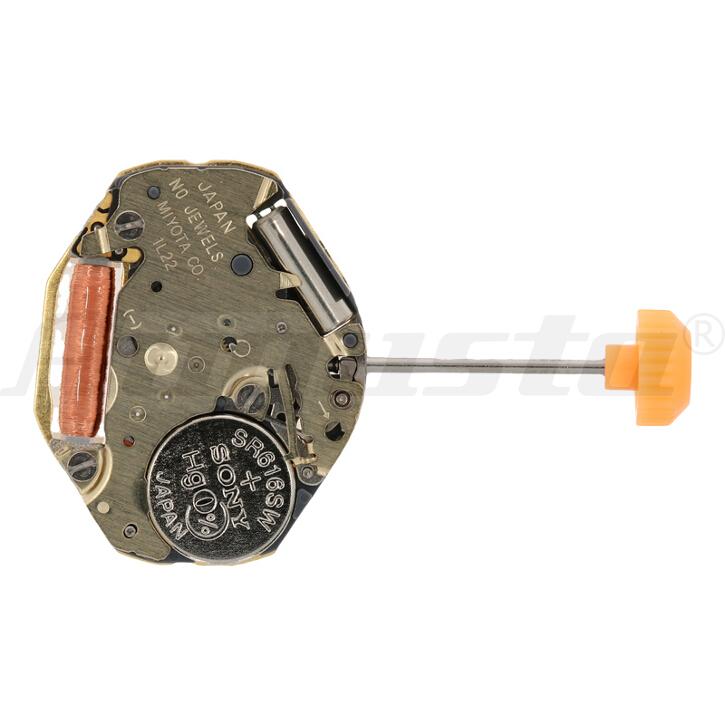 Armbanduhrwerk Quartz MIYOTA 1 L 22 6 3/4 x 8