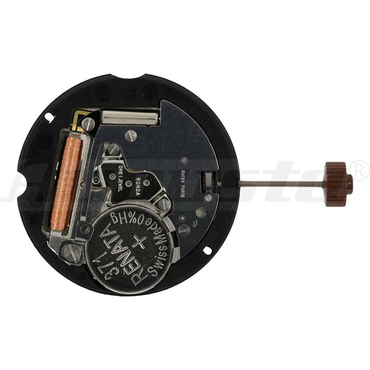 Armbanduhrwerk Quartz RONDA 505.24H 10 1/2 SC CLD 24H DUAL TIME D3