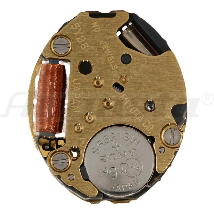 Armbanduhrwerk Quartz MIYOTA 5 Y 26 5 1/2 x 6 3/4
