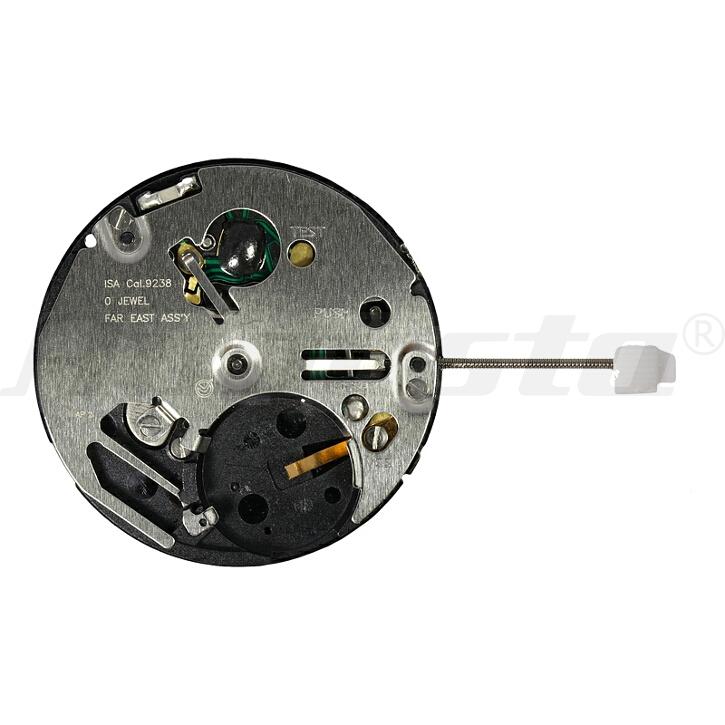 Armbanduhrwerk Quartz ISA 9238/1970 10 1/2 SC DD DUAL TIME