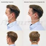 FFP2 Atemschutzmaske, gefaltet mit CE-Kennzeichnung