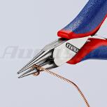 KNIPEX Rundzange, glatt, 115 mm, Form 3